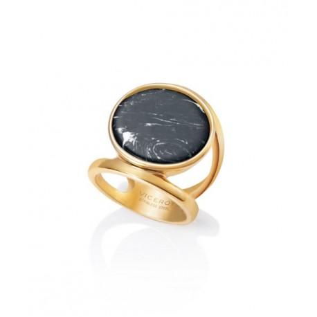 Anillo Viceroy dorado piedra negra