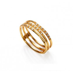 Anillo Viceroy triple dorado