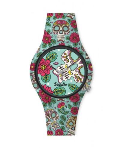 Reloj Doodle calavera colores