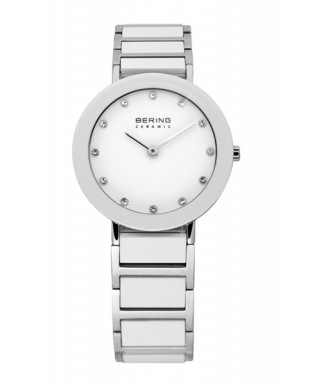 Reloj mujer Bering cerámica blanca 11429-754
