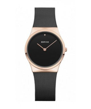 Reloj Bering negro rosado mujer 12130-166