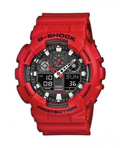 Reloj Casio G-SHOCK rojo GA-100B-4AER