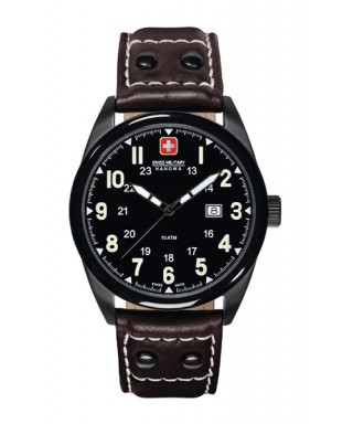Reloj Swiss Military negro marrón
