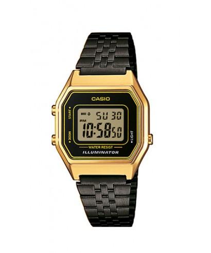 Reloj Casio digital negro dorado LA680WEGB-1AEF