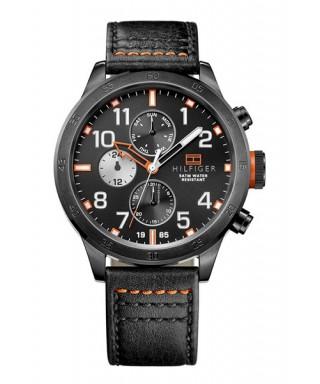 Reloj Tommy Hilfiger negro piel
