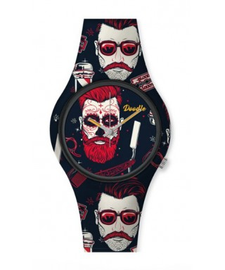 Reloj Doodle hombre barbudo