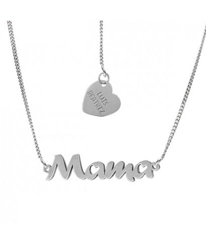Colgante plata nombre y corazón