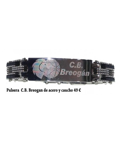 Pulsera C.B. Breogán acero y caucho