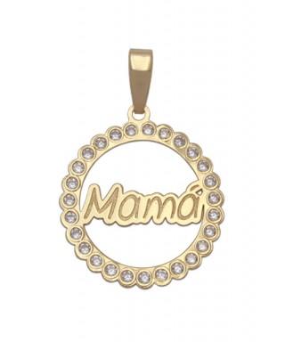 Colgante de Oro Mamá con circonitas