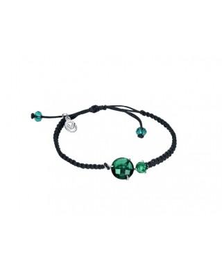 Pulsera Viceroy cordón cristal verde