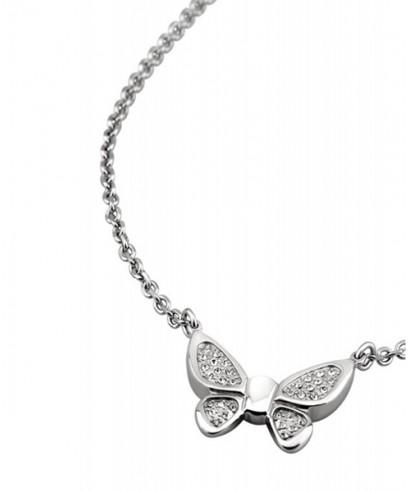Collar Lotus acero mariposas