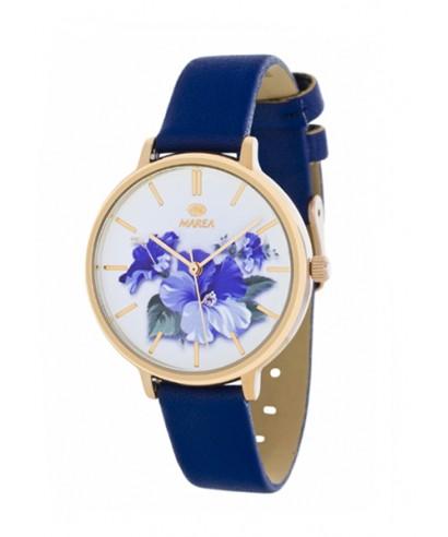 Reloj Marea azul flores