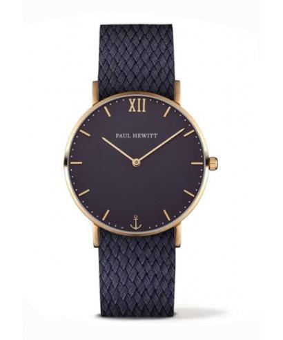 Reloj azul Paul Hewitt caja dorada