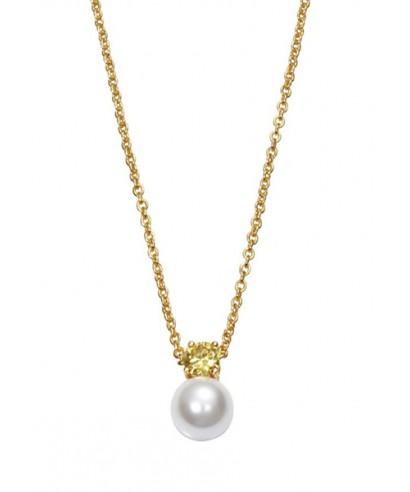 Collar Viceroy perla cristal amarillo