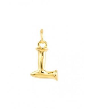 Letra L pequeña Uno de 50 dorada