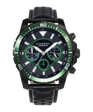 Reloj cronógrafo y taquímetro verde