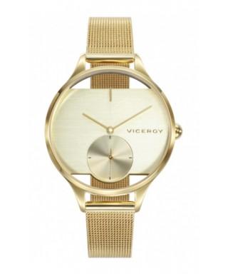 Reloj dorado Viceroy transparente