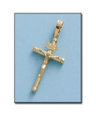 Cruz hueca de Oro cristo INRI