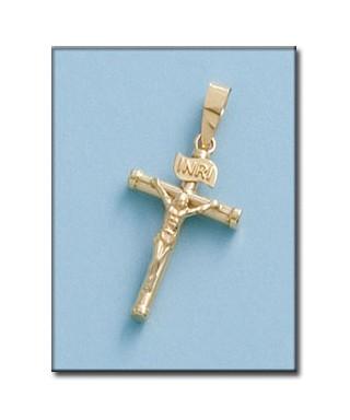 Cruz hueca de Oro INRI cristo