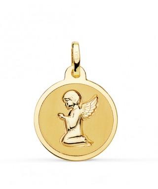 Medalla infantil Angel rezando