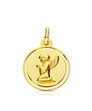 Medalla infantil Angel rezando brillo