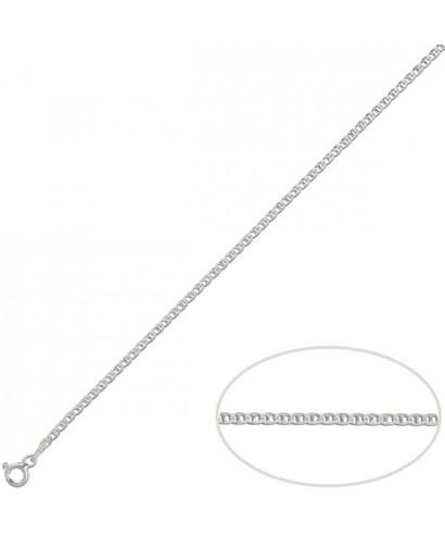 Cadena de plata ancla 60 cm