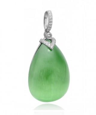 Colgante plata Tiara piedra verde