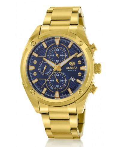 Reloj Marea acero dorado esfera azul