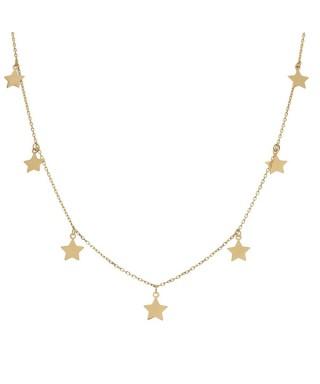 Gargantilla de Oro charms estrellas