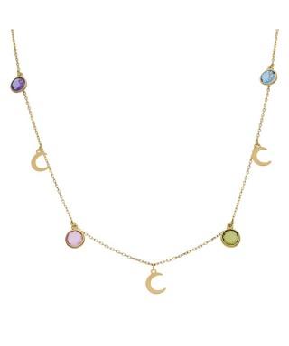 Gargantilla de Oro charms lunas