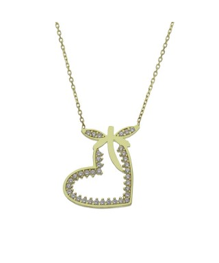 Gargantilla de Oro corazón libélula