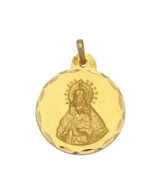 Medalla Oro Virgen de la Macarena redonda