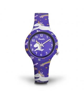 Reloj infantil Doodle unicornios