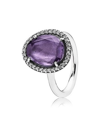 Anillo Pandora amatista 190893AM
