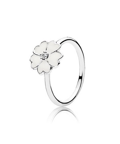 Anillo Pandora flor blanca 190931EN12