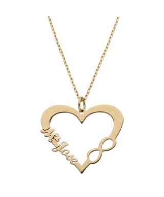 Gargantilla personalizada Oro corazón infinito nombres