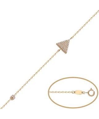 Pulsera de Oro triángulo