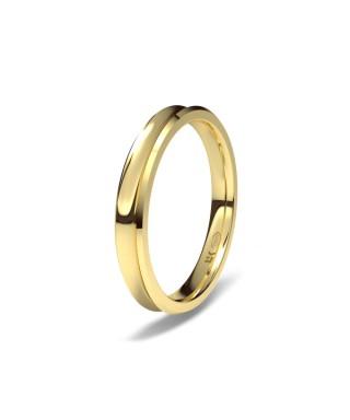 Alianza Oro boda concava 3 mm