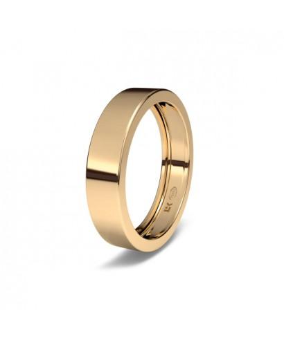 Alianza de boda Oro rojo rectangular