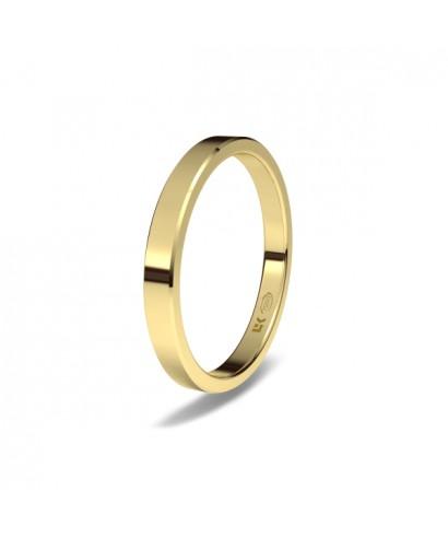 Alianza clásica de boda Oro minimal
