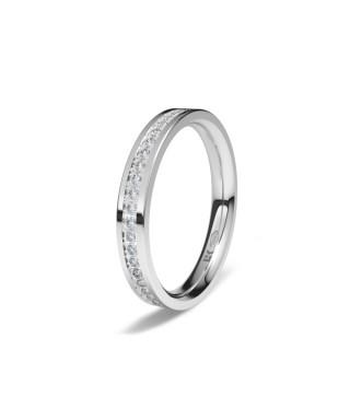 Alianza Oro blanco confort diamante