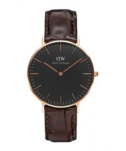 Reloj Daniel Wellington rosado negro DW00100140
