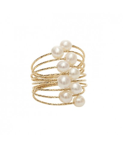 Sortija Oro Magic Wire Mágico perlas