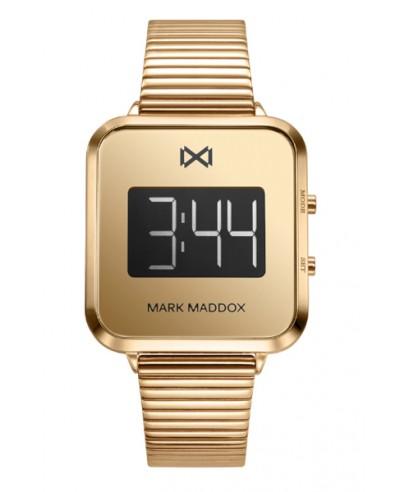 Reloj Mark Maddox dorado digital MM0119-90