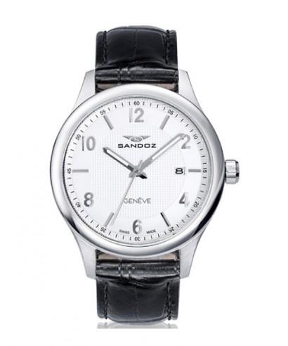 Reloj Sandoz piel caballero 81365-83