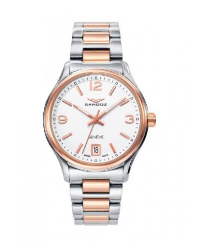 Reloj Sandoz mujer bicolor rosado