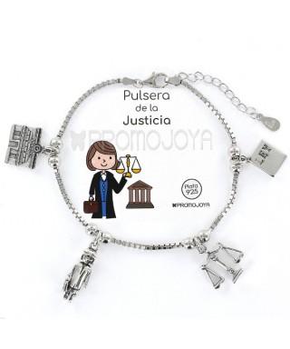 Pulsera de la Justicia plata 'Eres lo más'