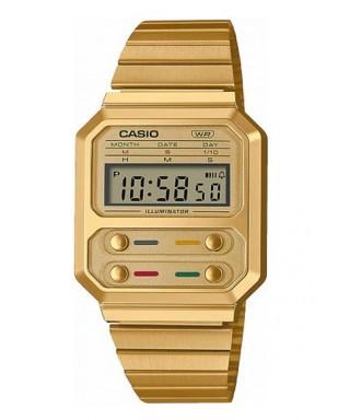 Reloj Casio Edición Especial 'Alien' dorado A100WEG-9AEF