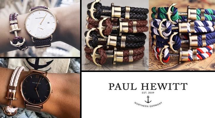 Pulseras y relojes ancla Paul Hewitt